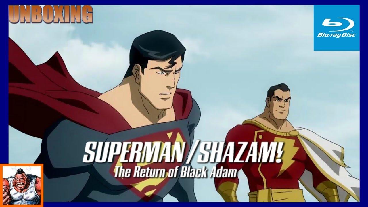 Download Superman/Shazam The Return of Black Adam Blu Ray Unboxing