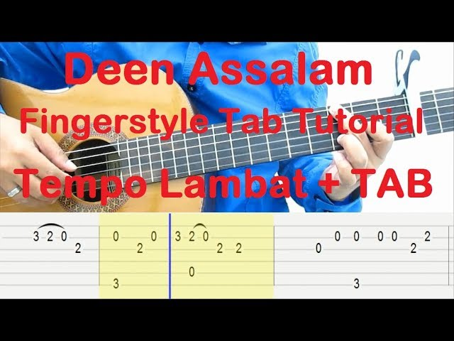 belajar-gitar-deen-assalam-fingerstyle-tab-tutorial-tempo-lambat-tab-rudi4gitar