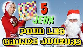 5 jeux pour les passionnés de jeux | feat. Père-noël Bruno