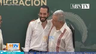 Nayib Bukele y Andrés Manuel Lopez Obrador | Firma de Cooperación entre Países