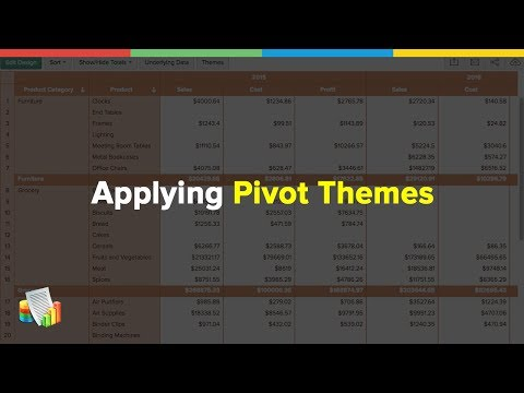 Customizing Pivot Table