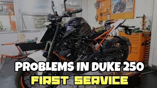 2018 DUKE 250 FIRST Service | TOTAL COST | MANY PROBLEMS???