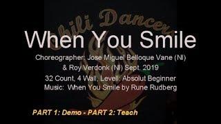 Linedance - When You Smile - Demo & Teach