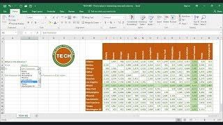 TECH-002 - Find a value in intersecting rows and columns in Excel