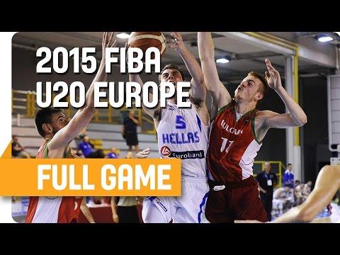 Greece v Bulgaria - Group B - Full Game - U20 European Championship Men