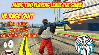 I MADE BOTH OF THE PLAYERS LEAVE THE GAME GTA 5 ONLINE / Видео
