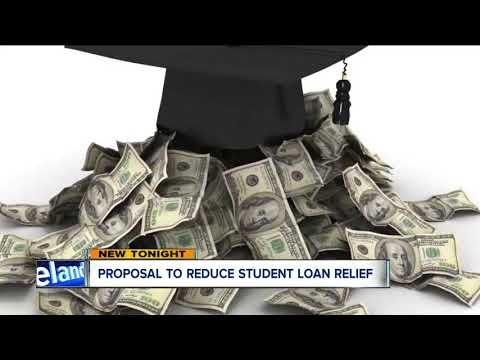 Proposal to reduce student loan relief