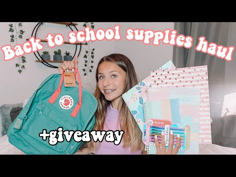 Back To School Supplies Haul for Freshman Year 2019 + giveaway