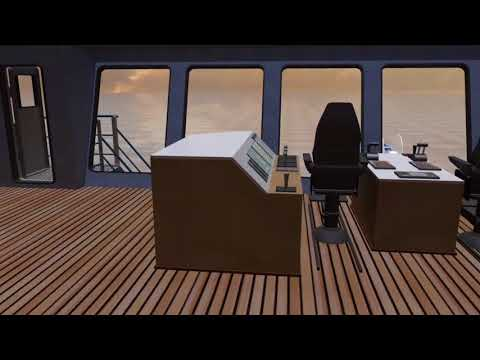 85.00m Dive Support Vessel - Wheelhouse Interior