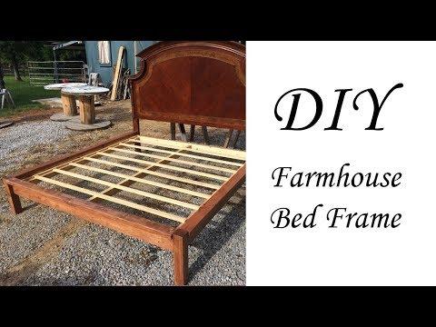 Cheap, Easy, DIY Farmhouse Bedframe