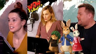 Peter Rabbit Voice B-Roll & Behind the Scenes(BTS) | Margot Robbie & Daisy Ridley