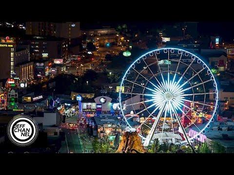 2019 Walking Tour Of Clifton Hill, Niagara Falls, Ontario, Canada @ NIGHT