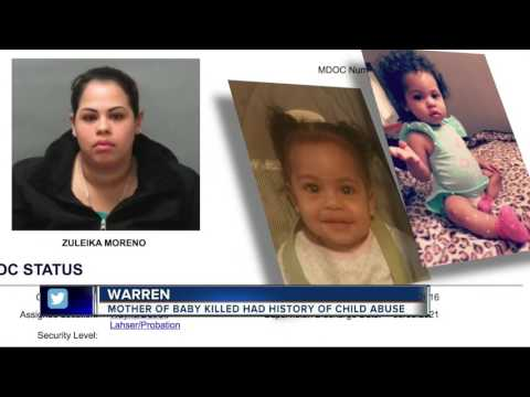 Mother of baby killed had history of child abuse