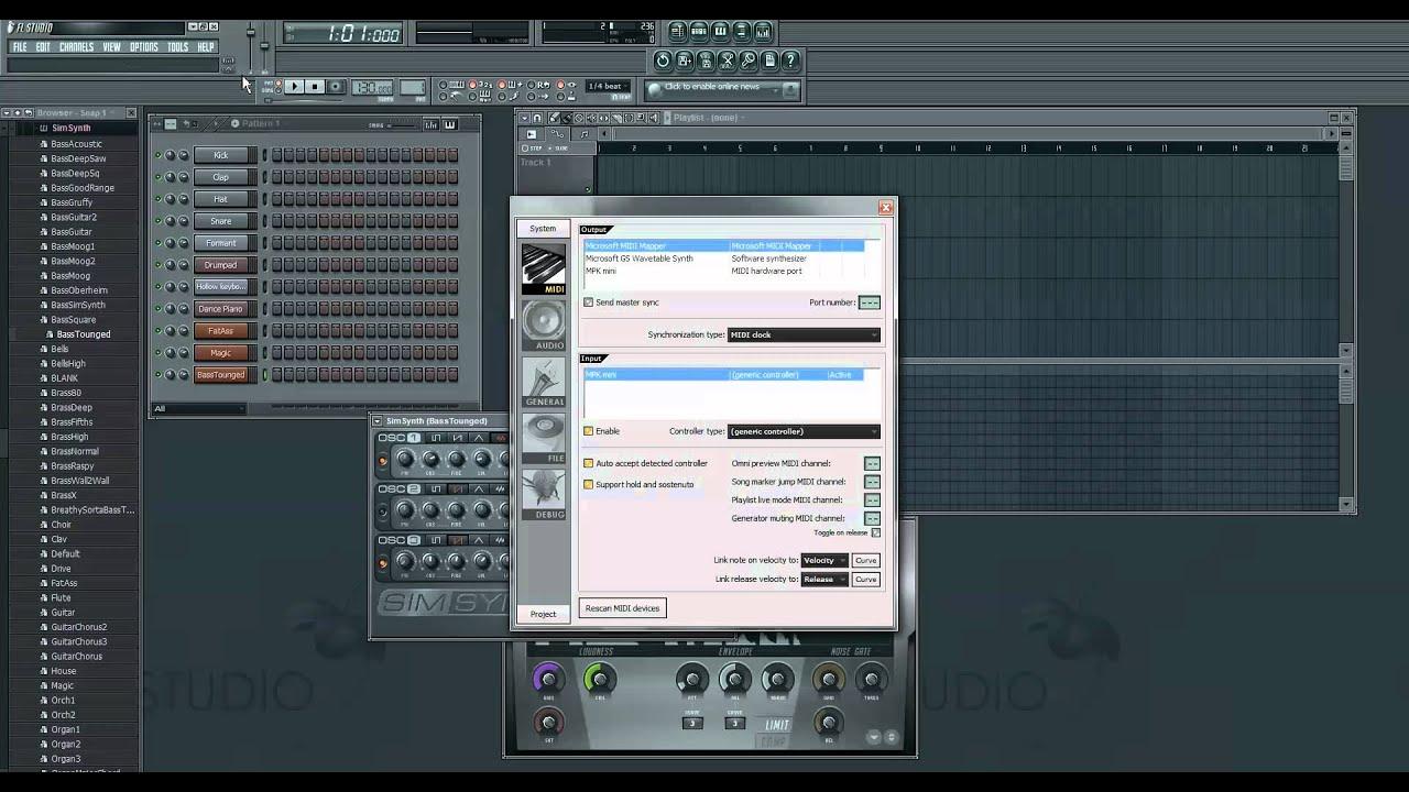 Tutorial: How To Set Up The AKAI MPK Mini with FL Studio 10
