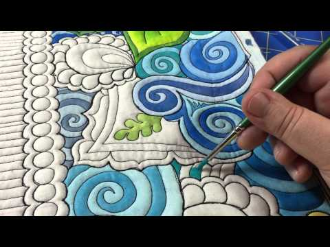 The Quilted Thistle's Coloring Quilts Tutorial:  How to Paint Your Quilt Using Textile Paints