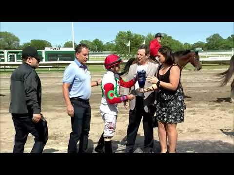 video thumbnail for MONMOUTH PARK 5-25-19 – RACE 7 – THE BOILING SPRINGS STAKES