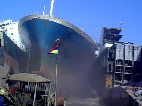BIGGEST SHIP CRASH! (*original video*)