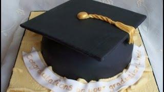 How To Make a Graduation Hat Cake - Tutorial