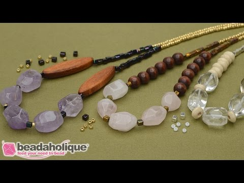 How to Make the Boho Gemstone Necklace - An Exclusive Beadaholique Kit