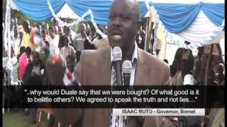 Isaac Ruto to Duale: I am no sell-out, verbal attack was uncalled for