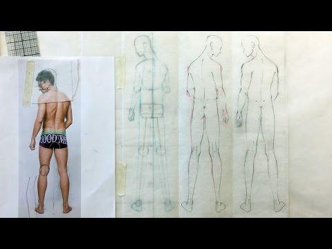 Fashion Illustration Tutorial: Back Figures: Male