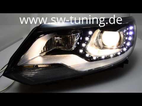swdrl scheinwerfer f r vw tiguan 5n gp led standlicht. Black Bedroom Furniture Sets. Home Design Ideas