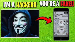 Scaring Fake Hacker With Voice Changer... (Fortnite)