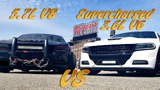 Can A Supercharged 3.6L V6 Keep Up With A  5.7L V8 Hemi??