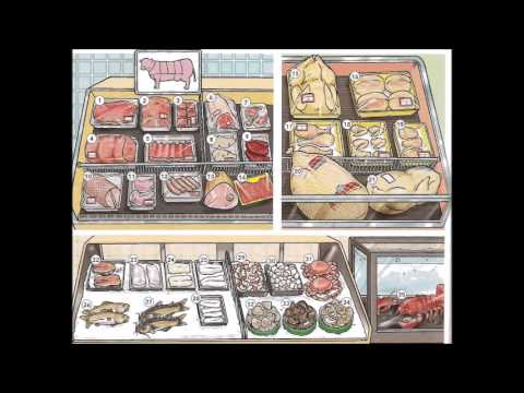 Meat poultry and seafood video