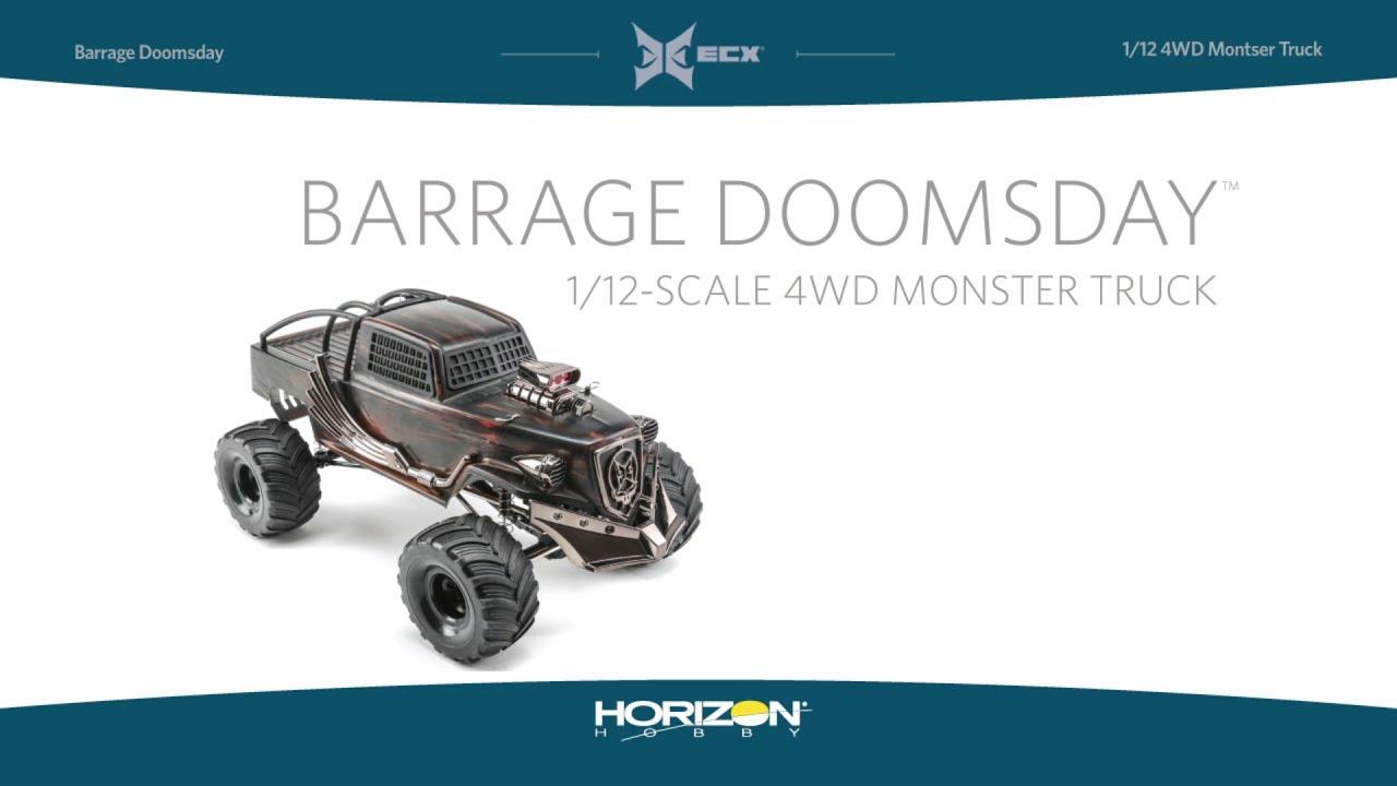 ECX FR//RR Axle Housing V3 132mm : BarrageDoomsday Z-ECX222000