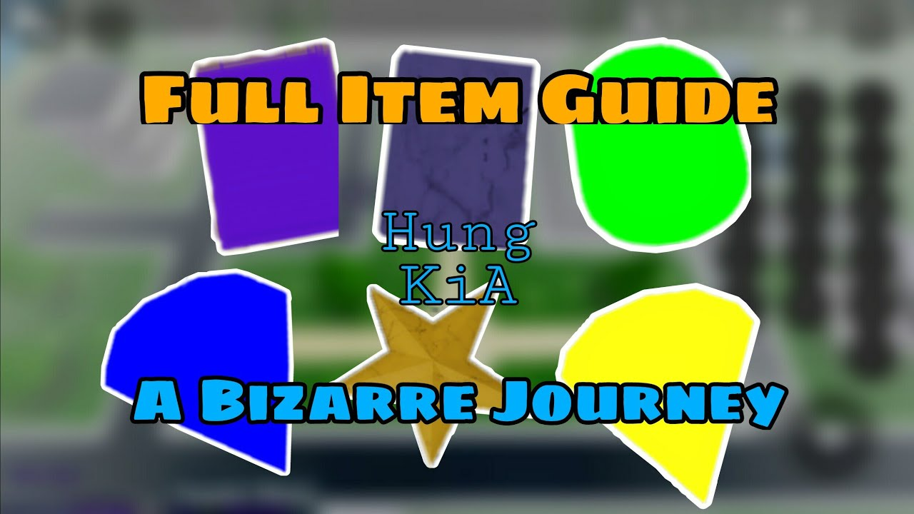 Download Full Item Guide | A Bizarre Journey | Roblox [OLD]