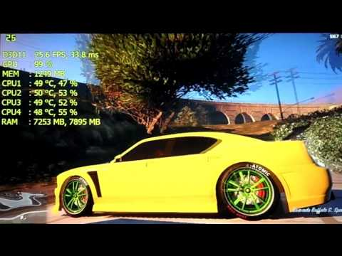 Grand Theft Auto V | Intel HD Graphics 530 - i5 6500 | Gameplay [REAL FPS]