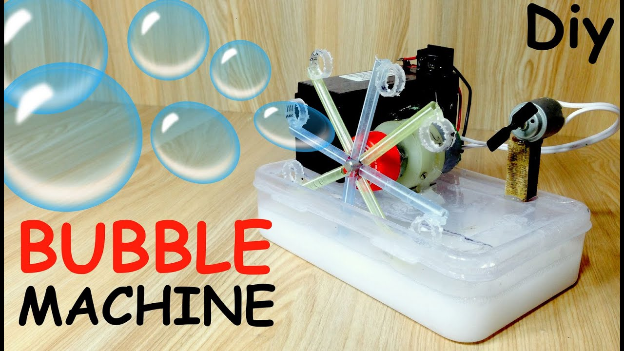 How to Make a Bubble Machine with Motor at home  YouTube