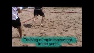 Basic training for beach handball