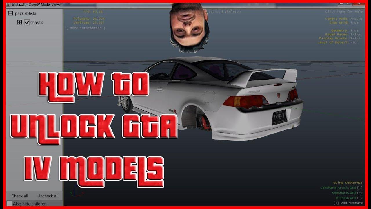 How To Unlock GTA IV  WFT Vehicle Models