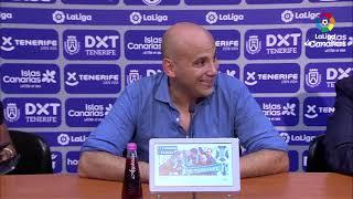 Rueda de prensa de Javier Rozada tras el CD Tenerife vs Real Oviedo (0-1)