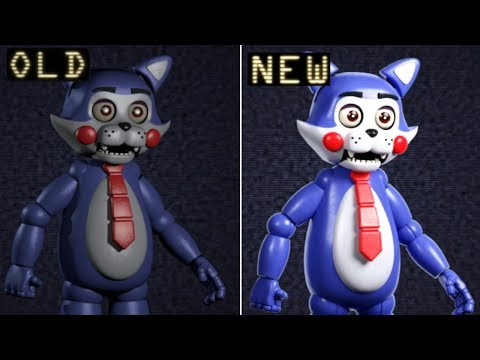 Old VS. NEW Animatronics In Five Nights At Candy's Remastered