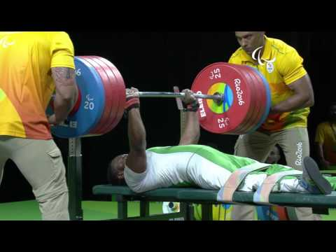 Powerlifting | World record lift from Nigeria's Paul Kehinde | Rio Paralympic Games 2016