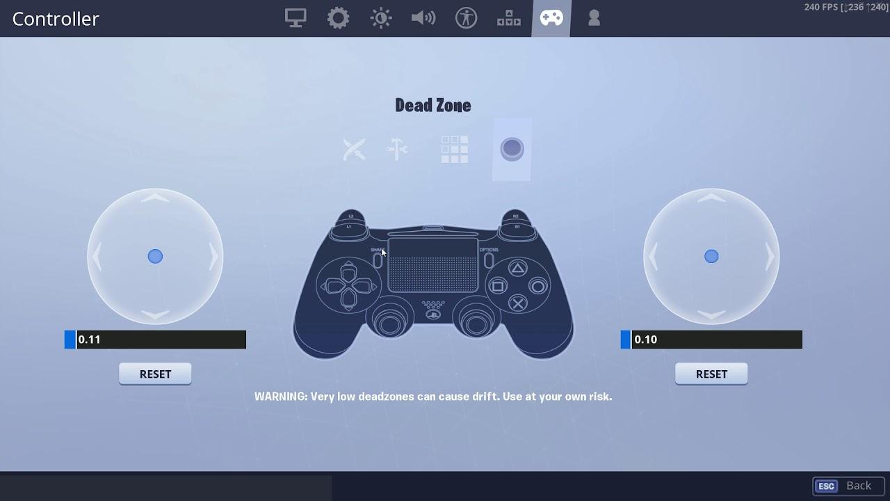 best controller settings in fortnite pro player settings ps4 xbox - pro ps4 fortnite players settings