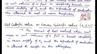 Calorific Value of a Fuel, Measurement of Calorific Value, Calculation of Calorific Value