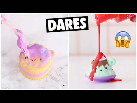 EXTREME SLIME & SQUISHY DARES?! *squishy makeover*