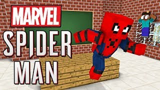 Monster School : MARVEL'S SPIDER-MAN VISIT MONSTER SCHOOL - Minecraft Animation