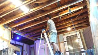 Leveling a sagging ceiling