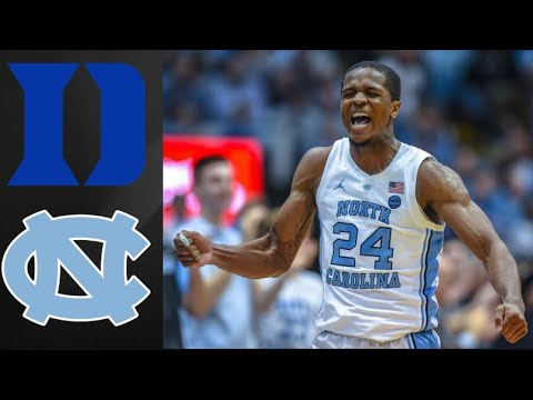 Duke Blue Devils Vs UNC Tar Heels | College Basketball Highlights