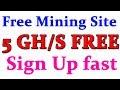 DemixMine Free Bitcoin Mining Site | Get 5 GH/S as Sign Up bonus | Mine [ BTC, LTC, USD, DOGE, ETH ]