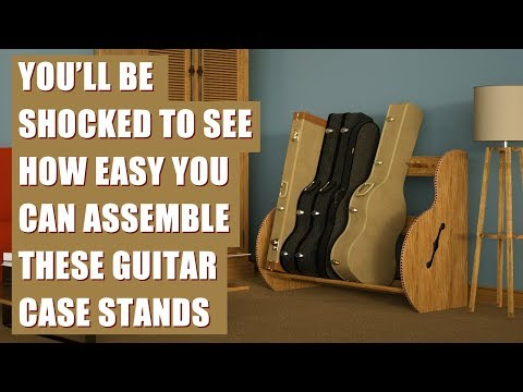 The Studio™ Guitar Case Stand Is Super Easy to Assemble