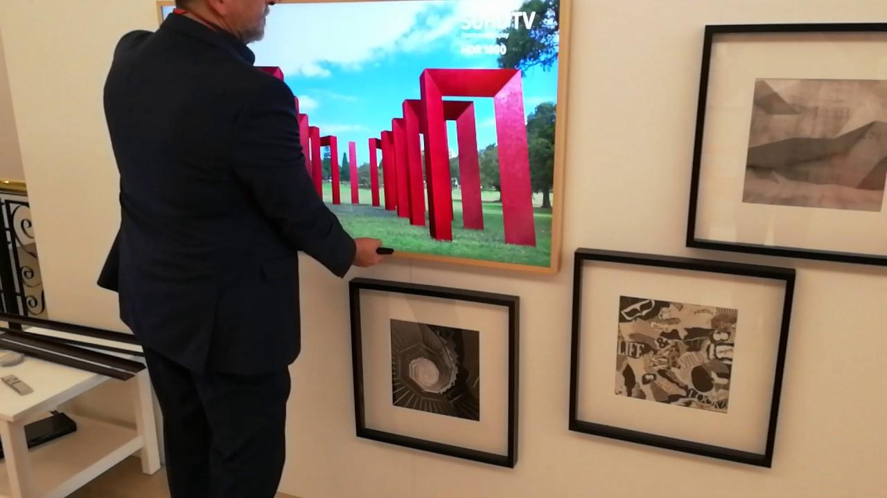 samsung tv art. samsung frame tv - art mode demonstration tv c