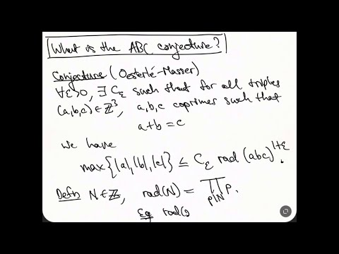 ABC Intro - part 1 - What is the ABC conjecture? - YouTube