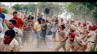 West Bengal: Lathicharge of Mamta's police on permanent job's demand