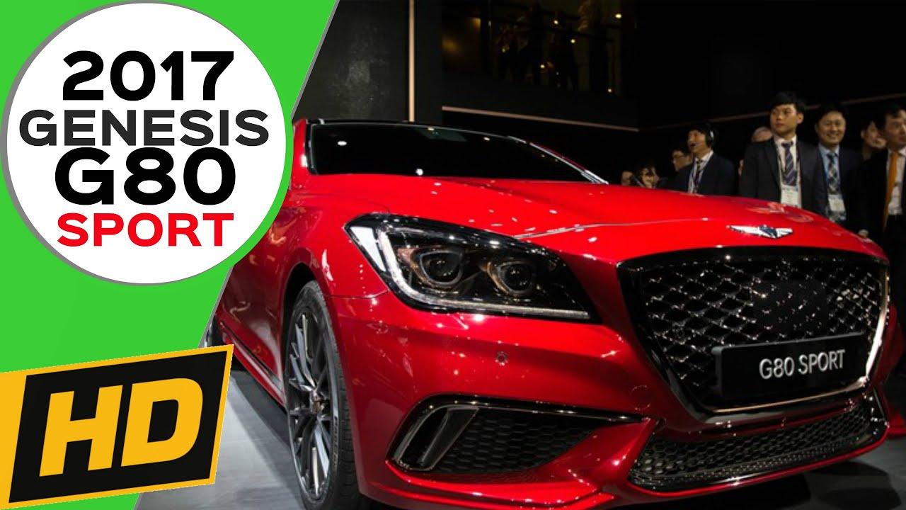 2017 Genesis G80 Sport First Look